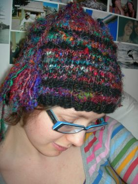 sari silk and freedom wool hat