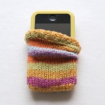 Stripey iPhone Cosy by Brenda Burrell