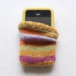 Stripey iPhone Cosy by Brenda Burrell