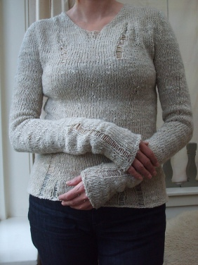 The Matrix Sweater by Boknits, Artemis Adornments
