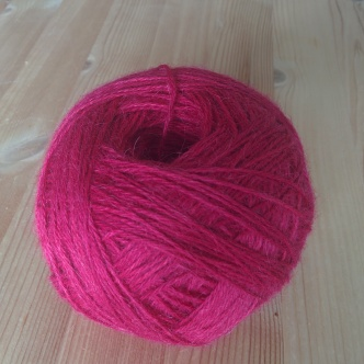 Yarn dyed with cochineal. Photo by Lisa Risager